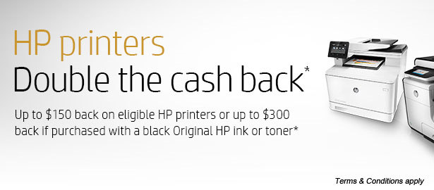 HP Printers Double Cash back