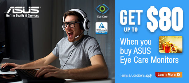 GAME HARD WITH ASUS EYE CARE MONITORS!