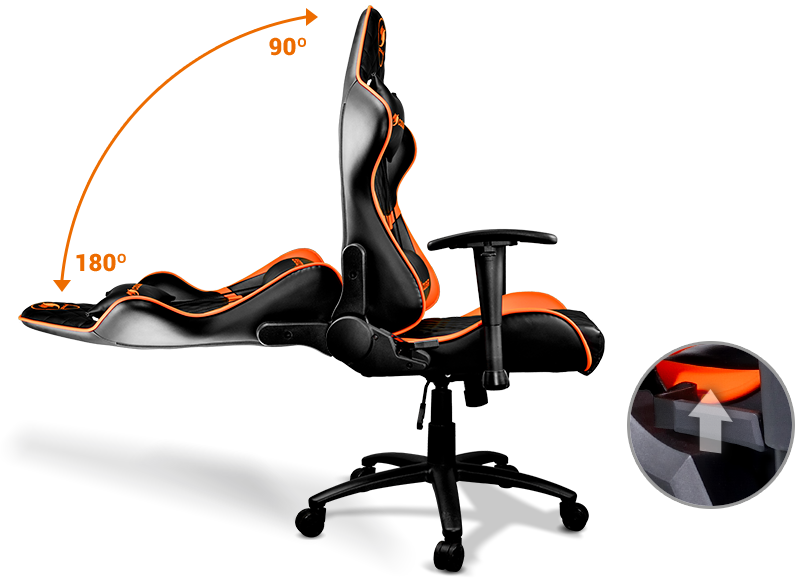 Amazing Cougar Armor One Gaming Chair Black Orange Andrewgaddart Wooden Chair Designs For Living Room Andrewgaddartcom
