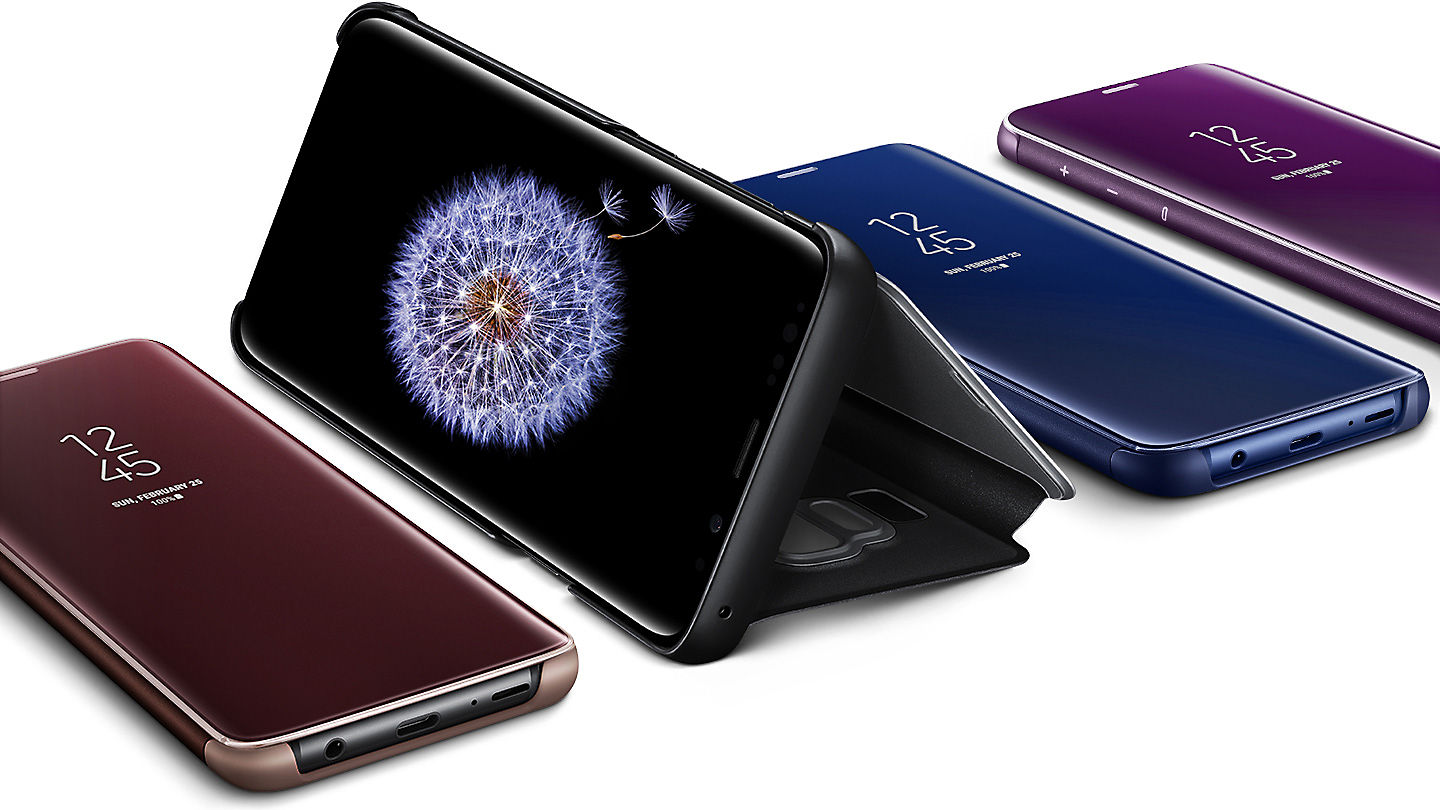 the best attitude 75d9f efe3d Samsung EF-ZG965CVEGWW S9+ Clear View Standing Cover - Purple